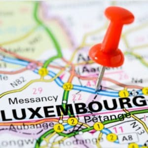 Люксембург на карте